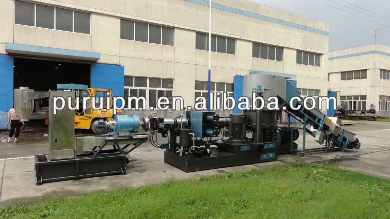 recycled BOPP film plastic extruder production line