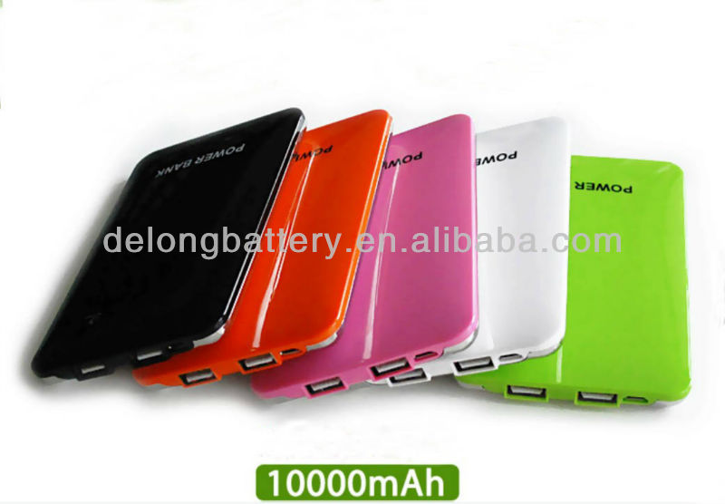 14mm thickness Li polymer battery Slim portable charger with large capacity