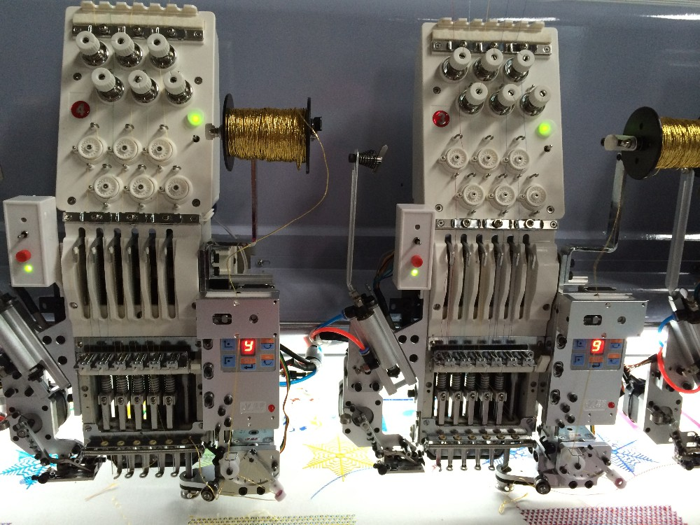 Beading embroidery machine view