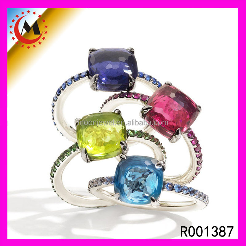 Colored Rainbow Mystic Topaz Ring Wholesale,22K Gold Rainbow Moonstone Ring Rainbow Ring For Girls