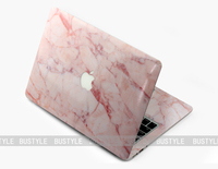 black and white pink Marble skin sticker for Macbook laptop skin