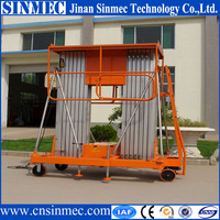 SINMEC Big wheel aluminum mast personnel hydraulic aluminum lift
