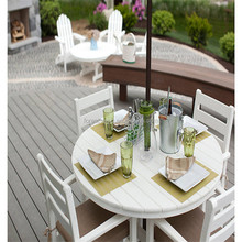 Ecological Solid Composite Wood Easy Install WPC Outdoor Flooring