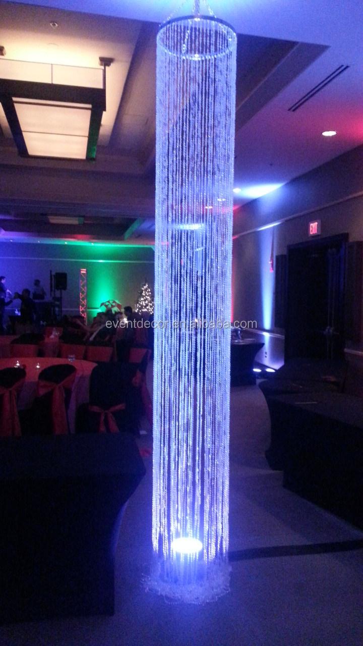 Decorative iridescent acrylic chandelier column hanging