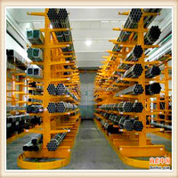 Heavy duty steel structure pipe rack, cantilever structure rack, pipe shelves