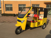 2016 60v 1000w electric power battery operated rickshaw tricycle for passenger with car design for sale