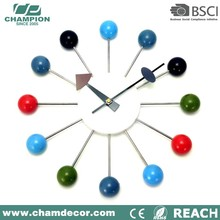 Decorative Wooden Rolling Ball Wall Clock for home decor
