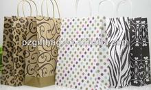 glossy art paper bags fancy paper carrier bag