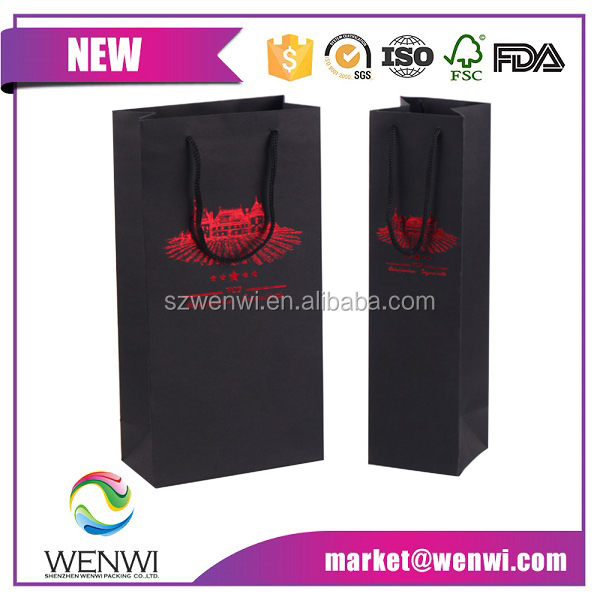 wholesale cheap price design kraft paper wine bag