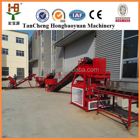 2017 new design HBY4-10 india small scale industries manual brick making machine in Uganda