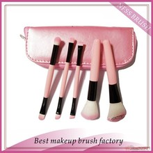 5pcs double sides makeup brush set/travel cosmetic brush set/mini synthetic make up brush case in stock