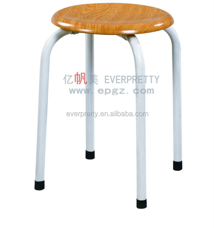 Durable wood seat students stools for labs, school lab furniture