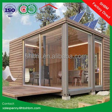 20ft 40ft flat pack shipping container home villa/ low cost portable container house