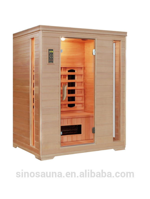 3 person hemlock himalayan salt infrared sauna for living room