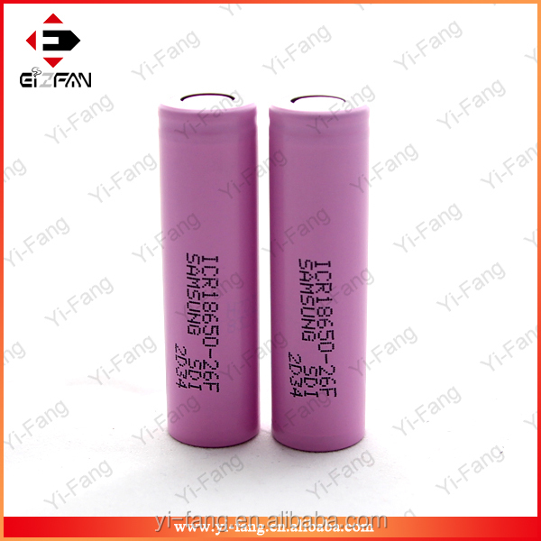 100% Authentic 18650 battery ICR18650-26F/FM 2600mah 3.7v rechargeable battery