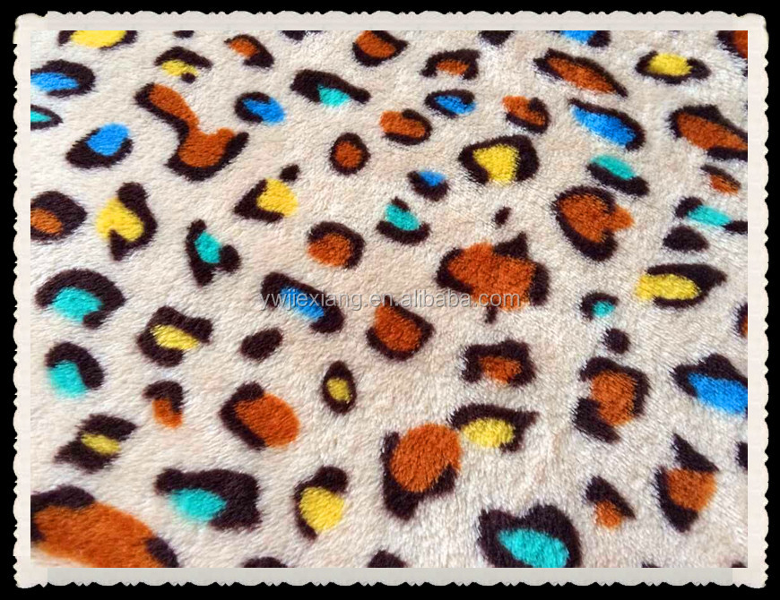 wholesale polyester soft flannel animal print fleece fabric