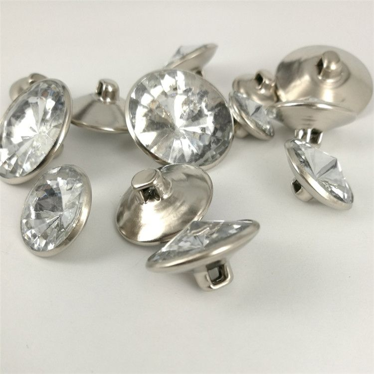 Top selling unique round crystal rhinestone buttons flat back from manufacturer