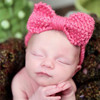 Lovely Kids Baby Butterfly Knot Wool Knitted Headband