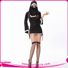 Sexy Black Halloween Cosplay Japanese Nude Costume