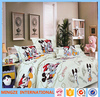 Mickey design 3D baby crib bedding set 100% cotton