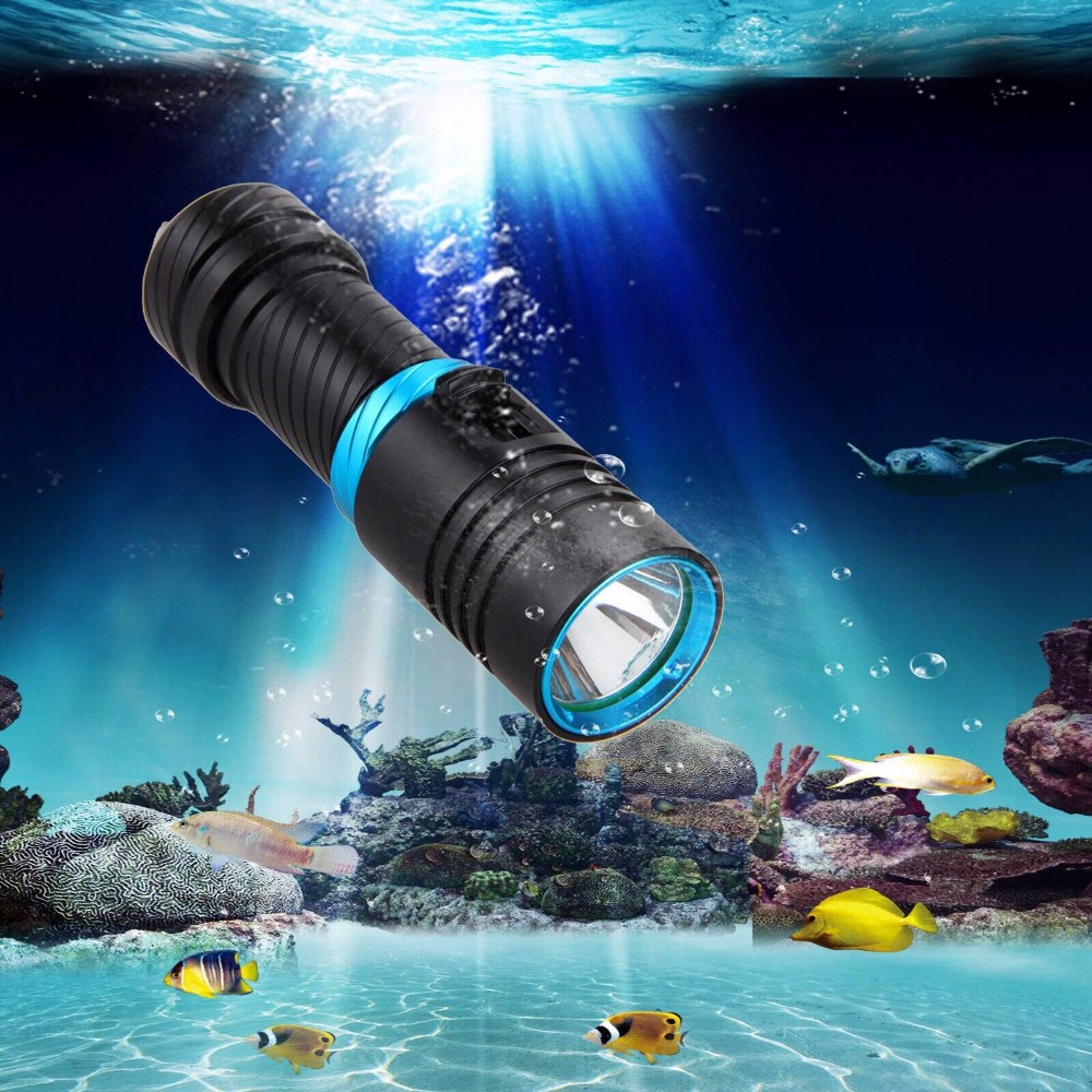 Cheap Price 50M Waterproof 850LM LED Diving Rechargeable Flashlight, XM-L2 U2 LED Torch Light
