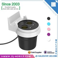 Free sample Double USB 5V Cup Holder Power Adapter Car charger for iphone