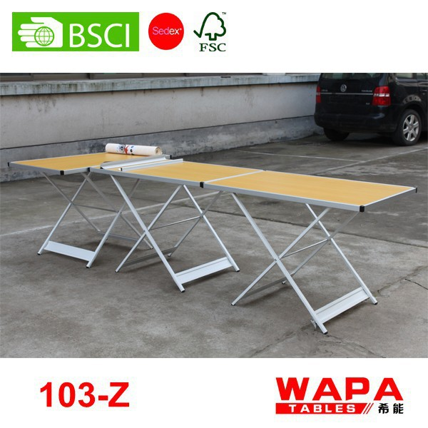 1 Section (1m)x3pcs height adjustable plant wallpaper table