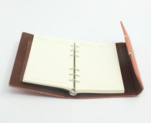 2016 Popular journal / wholesale promotional loose-leaf notebook school leather diary