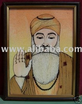 Guru Nanak Dev Ji, Gem Stone Painting, Art & Crafts