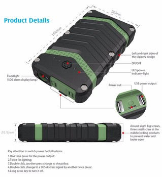 18000mAh rohs waterproof battery charger power banks