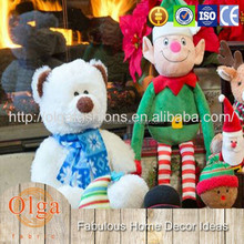 Bright color Christmas dull voice recording plush toys