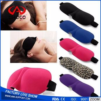 OHOCO new design fashionable travel colorful 3D sleep eye mask Sleeping Soft Cover logo support eye support