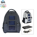 fashion school travel waterproof PVC multi USB ports solar backpack with speakers