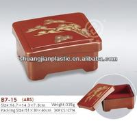 Square plastic eel box for Japanese and Korean food