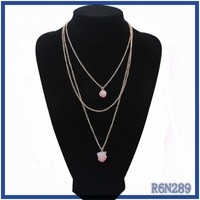 fashion pink druzy beads necklace making supplies low cost thick chains link necklace