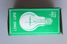 Incandescent light bulbs Long Life Bulb 220V240v E27 200 WATT glass Clear bulb(Glowever)