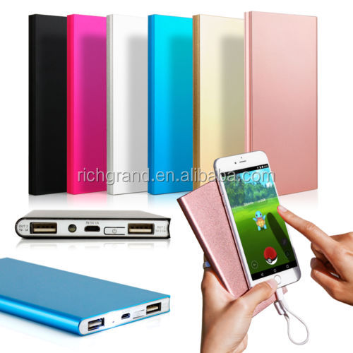 2017 Ultra thin 10000mAh Portable Power Bank for Moboile Phone