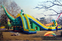 high giant inflatable slide/dry slide with dinosaur shaped