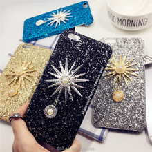 hot sell Rhinestone bling crystal pearl flower Crown hard case for iphone6 6plus