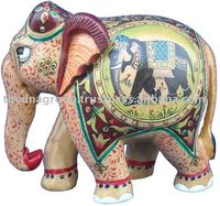 wooden carvings/hand carved elephant