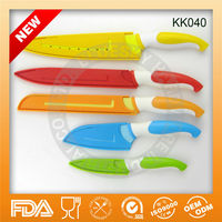 Discounts for 2014 color blade non-stick kitchen knife set KK040
