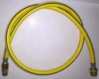 flexible natural gas hose for Colombia, reinforced PVC tube with steel nuts
