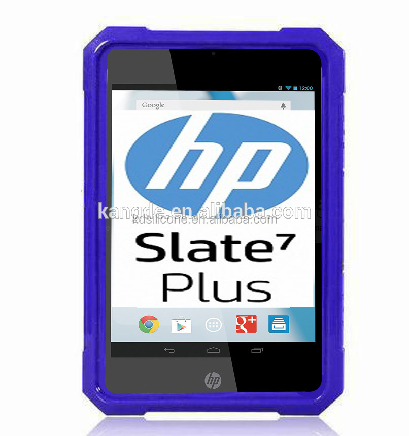 Rugged cover case for hp slate 7 tablet, shock proof hp slate 7 tablet bumber case, silicone case cover for hp slate 7 tablet