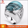 fashion Indonesia hot sale gemstone jewelry 925 sterling silver men rings