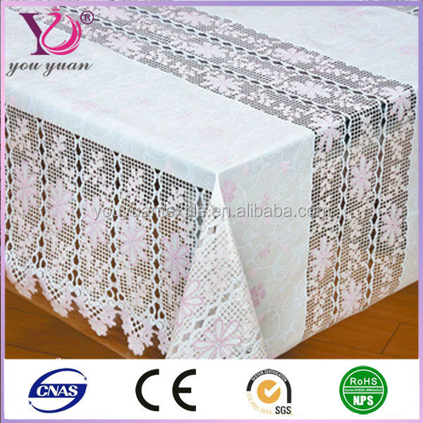 Latest design printed lace tablecloth,easy wipe lace table cloths