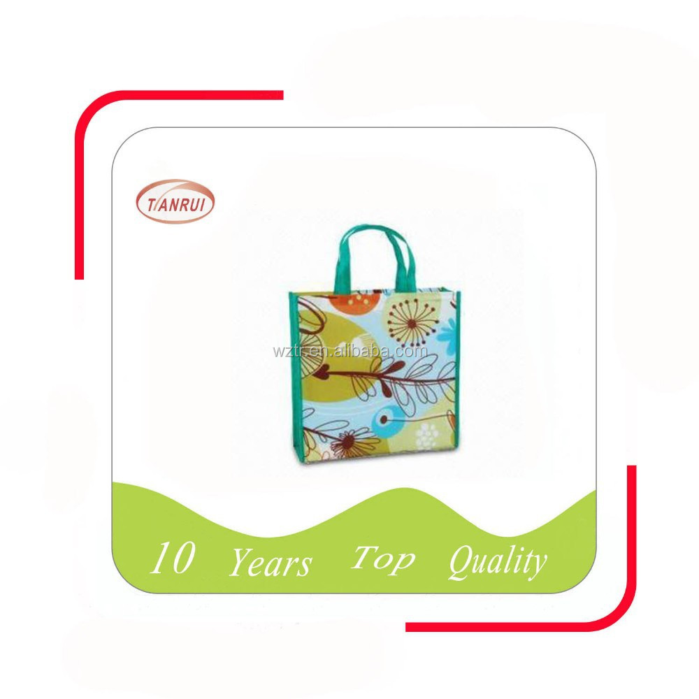 alibaba wenzhou factory cheap sale reusable laminated tote shopping gift bag