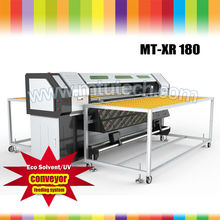 Cheap UV Flatbed Printer for ceramic printing with white color and Germany IGUS drag chain