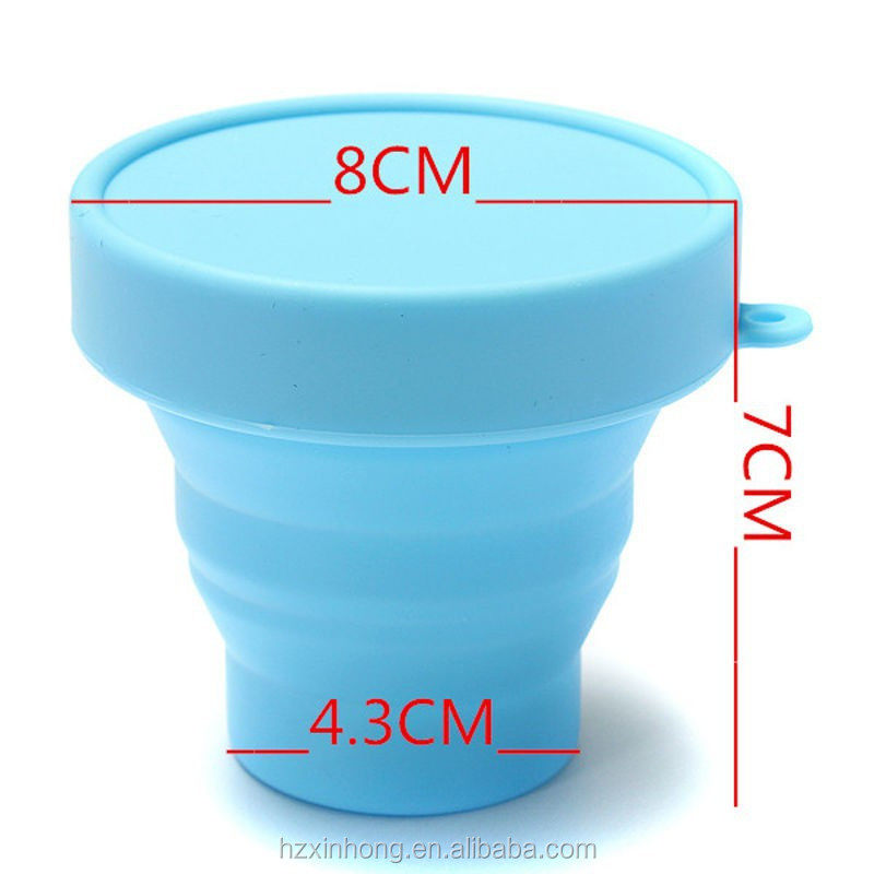 Non-toxic Silicone Collapsible Tea Cup/Silicone Glass Tea Cup COL-06
