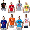2016 plus size 100% cotton short sleeves men gym t shirt in stock