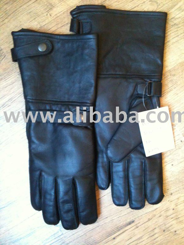 Motorbike Leather long Gloves